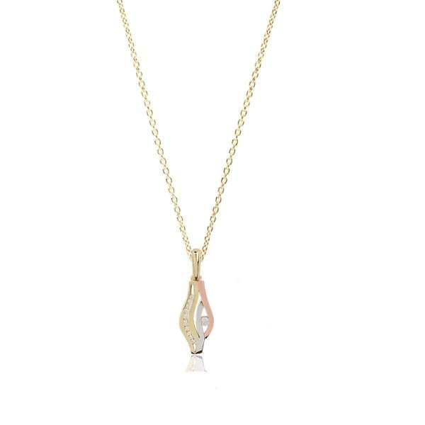 Cali 18ct White, Rose and Gold Pendant