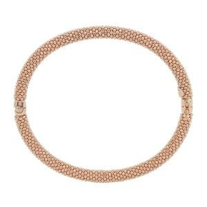 Auric Rose Gold Sterling Silver Hinged Bangle