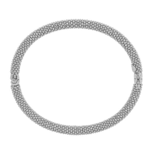 Auric Sterling Silver Hinged Bangle
