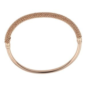 Rose Gold Sterling Silver Bangle Bracelet