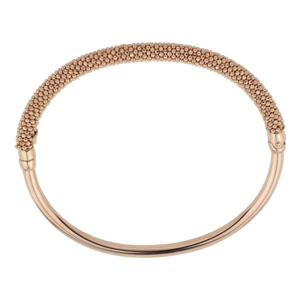 Auric Rose Gold Silver Thin Hinged Bangle