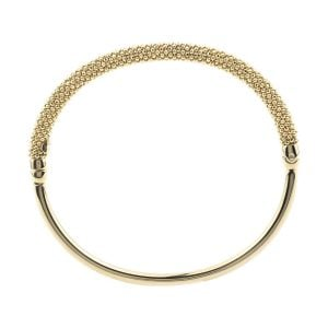 Auric Yellow Silver Thin Bangle Bracelet