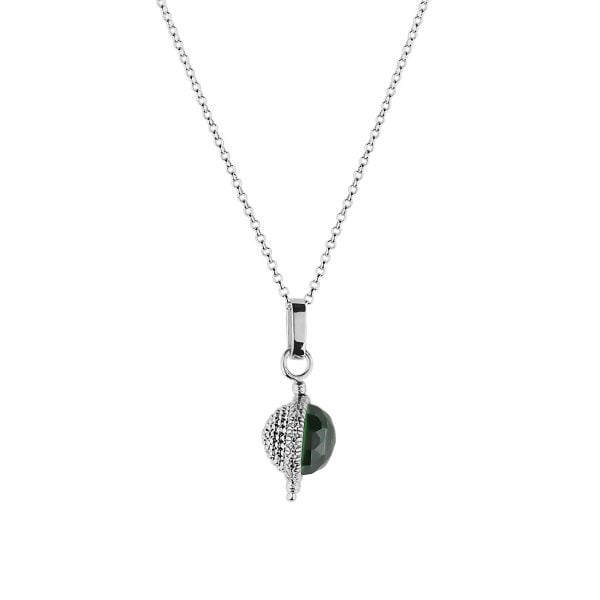 Auric Greenstone Sterling Silver Necklace