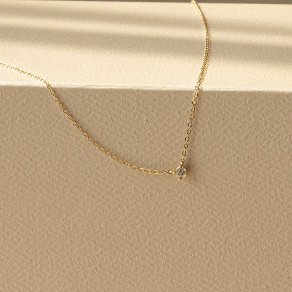Gia 18ct Yellow Gold Bezel Necklace AJ