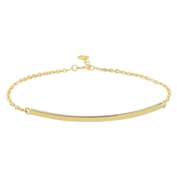 Noemi 18ct Yellow Gold T Bar Barcelet