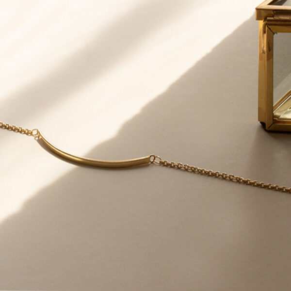 Noemi Bar 18ct Gold Chain Bracelet