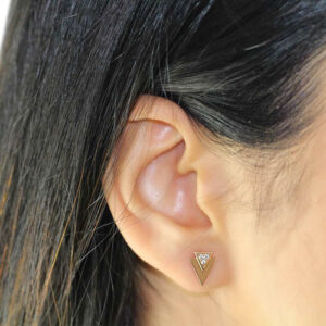 gia-triangle-18ct-rose-gold-stud-earrings close up