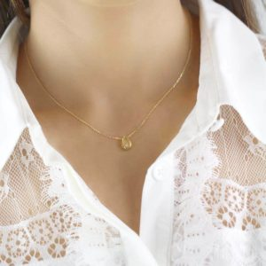 Gia 18ct Gold Tear Drop Pendant Necklace
