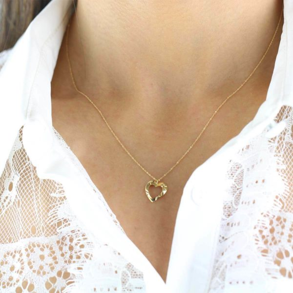 Noemi Heart 18ct Gold Pendant Necklace