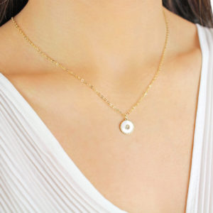 Serena Aubree Pearl 18ct Gold Pendant Necklace