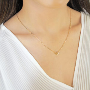 Noemi I Luv U heart 18ct Gold Pendant Necklace