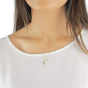 Gia Mummy and Baby 18ct Gold Pendant Necklace