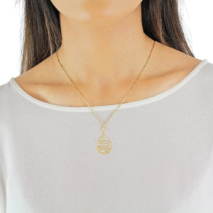 Serena Pearl Flower 18ct Gold Pendant Necklace