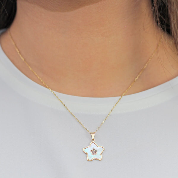 Pearl Flower Pendant in 18ct Gold