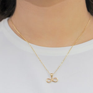 Infinity Dainty 18ct Gold Pendant