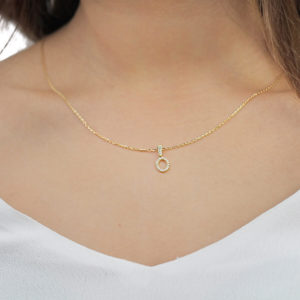 Gia 18ct Yellow Gold Dainty Opal Pendant