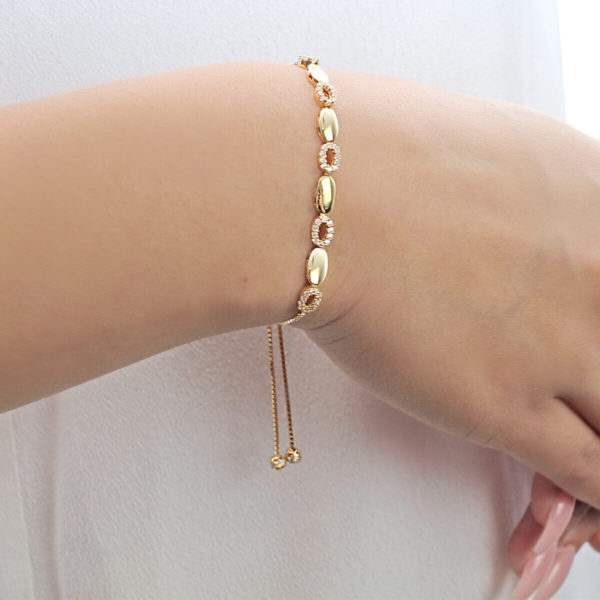Gia Oval 18ct Gold Chain Bracelet