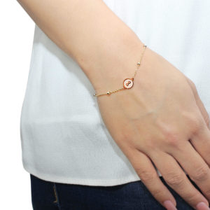 Cali Rose Infinity 18ct Rose Gold Chain Bracelet