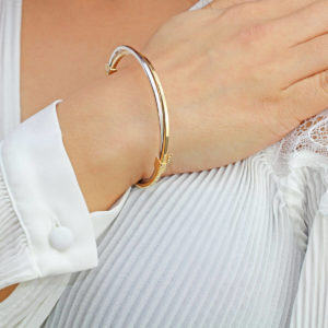 Cali Two Tone 18ct Gold Bracelet
