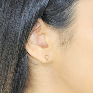 Infinity 18ct Gold Stud Earrings
