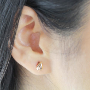 Noemi 18ct Rose Gold Teardrop Stud Earrings
