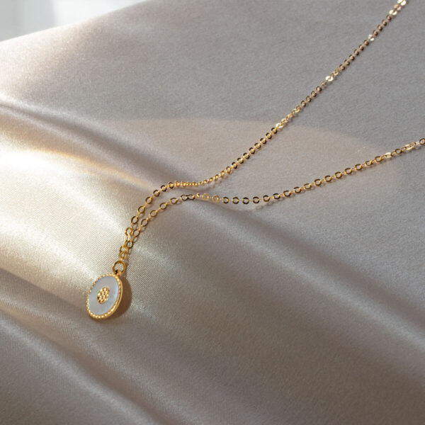 18ct Yellow Gold Pearl Pendant Necklace Auric Jewellery