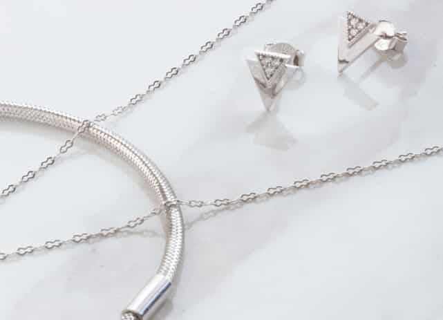 18ct Solid White Gold Jewellery