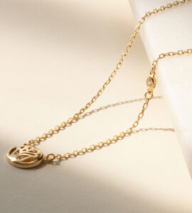 gia ashley 18ct solid gold necklace