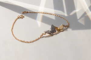 18ct Yellow Gold Bracelet Butterfly