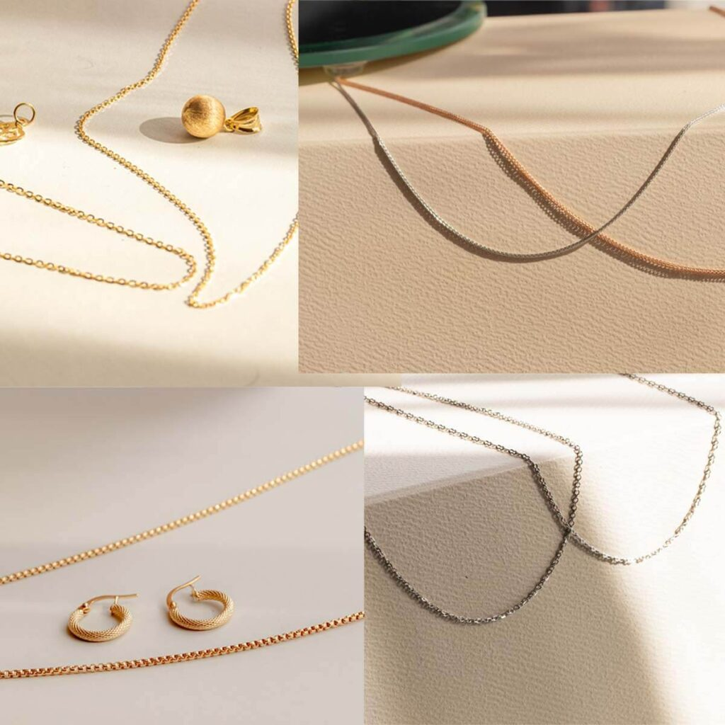 Gold Chain Necklace designs for women