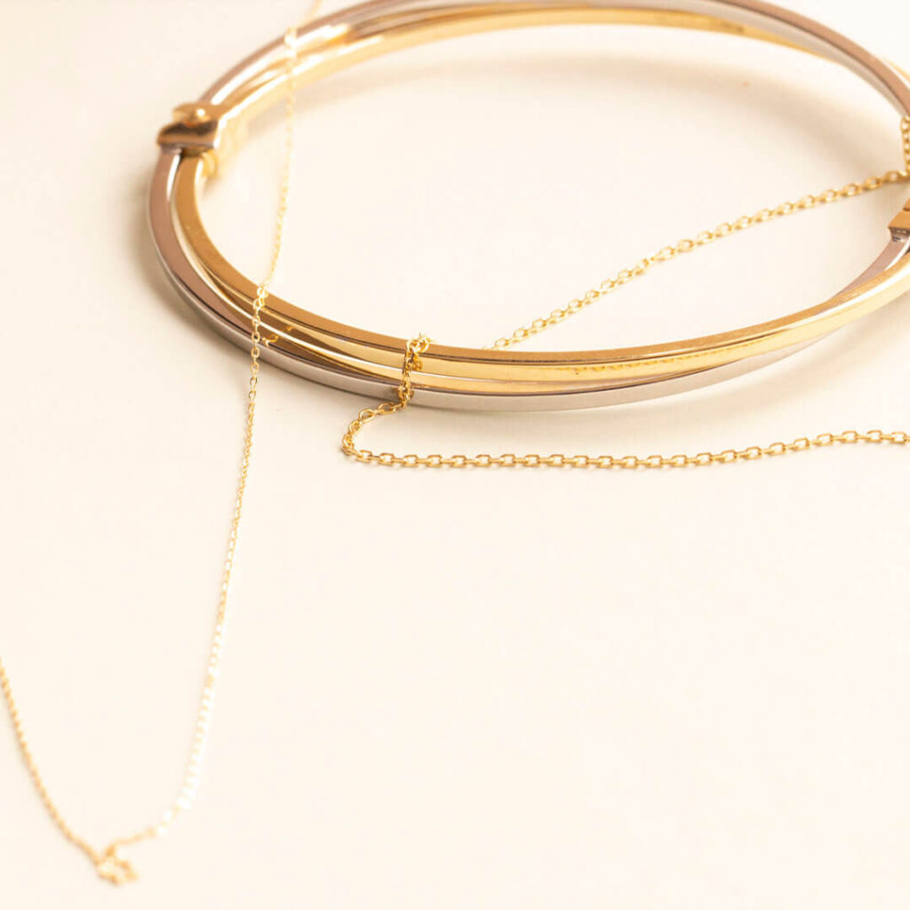Yellow Gold Cable Gold Chain Necklaces for women