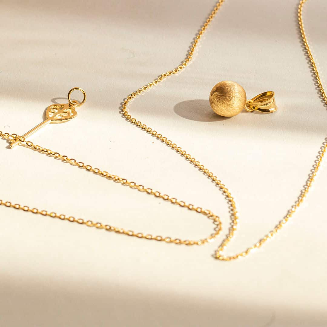 Yellow Gold Trace Chain Necklaces