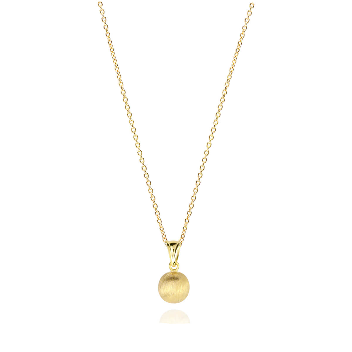 Sphere 18ct Yellow Gold Pendant Chain Necklace