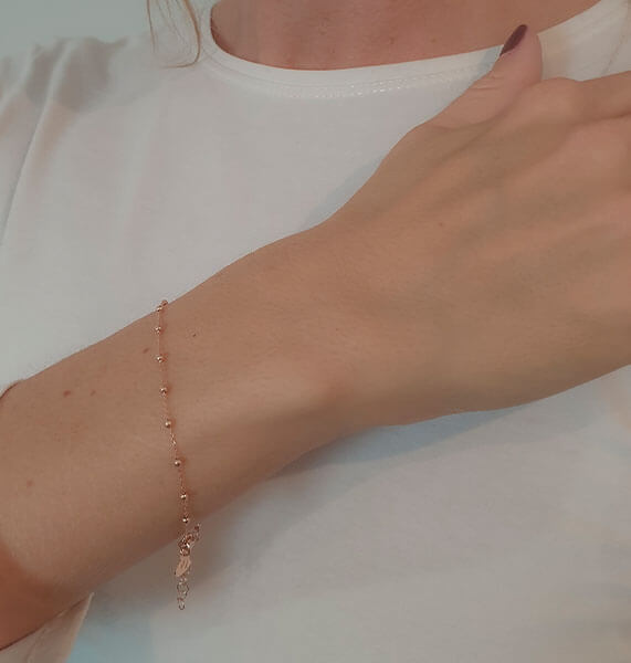 rose gold bracelet - a Special Valentine gift for her.
