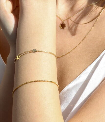 Personalised -Friendship written in the stars with Gold
