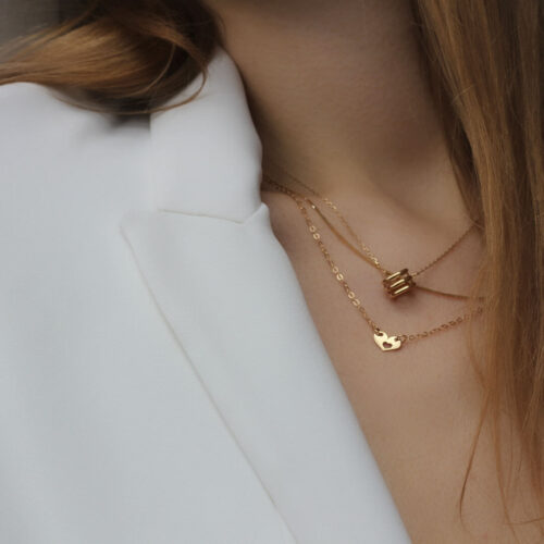 18ct Heart Pendant Gold Necklace