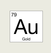 What is Chemical Symbol for Gold - 79